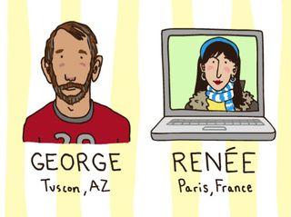 George and renee screen grab